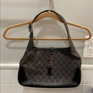 Gucci Black Denim Jackie O Bag